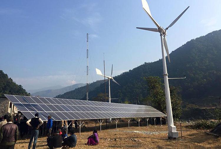 सिन्धुलीमा पहिलो वायु–सौर्य उर्जा प्रणालीबाट बिद्युत उत्पादन सुरू_img
