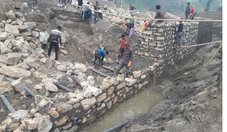 हनुमन्ते खोलाको ५४ रोपनी जग्गा गायब, करिडोर निर्माण अलपत्र
