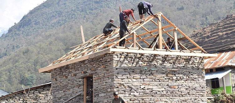 ५ लाख ५९ हजार घरको पुनर्निर्माण सम्पन्न