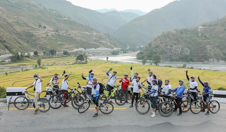 पर्यटन प्रवद्र्धनका लागि 'नेपाल साइकल यात्रा' हुँदै, यस्तो छ १६२४ किमी लामो रुट