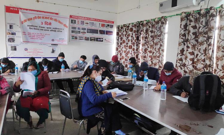 कृषि आधुनिकीकरण परियोजना धनुषाद्धारा ३ दिने कृषि अभिकर्ता तालिम सम्पन्न
