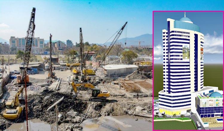 काठमाडौं भ्यू टावर निर्माण कछुवाको गतिमा, ६ वर्षमा २५ प्रतिशत मात्र काम पूरा