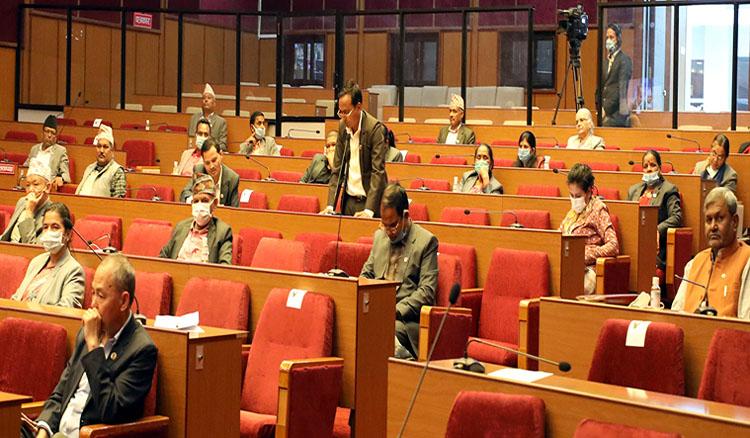 एमालेको विरोधका बीच राष्ट्रियसभामा विनियोजन विधेयक टेबुल
